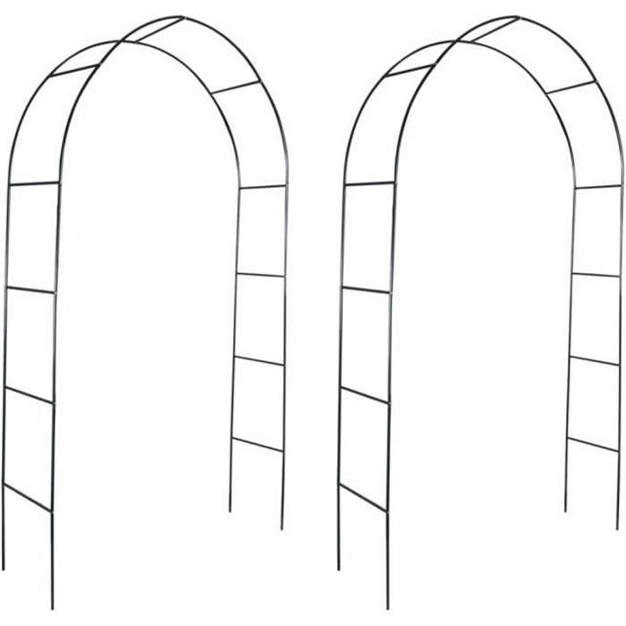 ��2694Luxueux Magnifique Arches de jardin pour Plantes Grimpantes et Rosiers Décor - Arceau de jardin Pergola à appentis -2 pcs pour