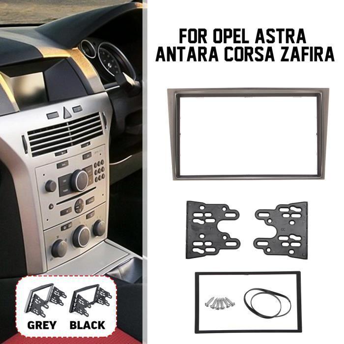 2-Din Autoradio Stéréo Panneau Fascia Dash Installation Kit D'outils Pour Opel Astra Antara Corsa Zafira Gris Fonce