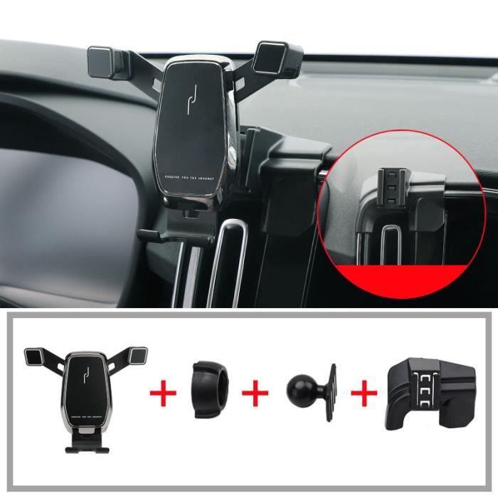 Supports voiture,Pince de fixation pour évent support pour téléphone de voiture pour Volvo XC40 accessoires 2020 - Type Black 1 pcs