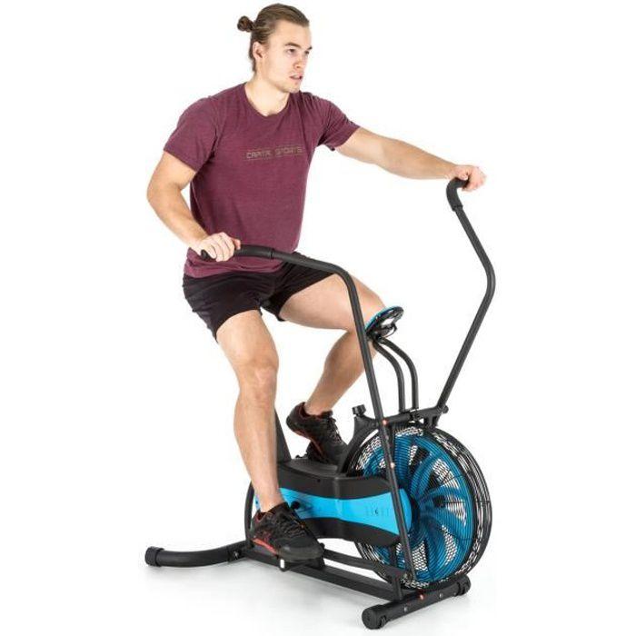 CAPITAL SPORTS Stormstrike 2k - Vélo d'appartement cross-training entrainement et cardio (résistance croissante par éolienne) - noir