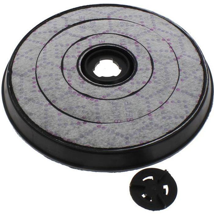 Filtre charbon rond d=233mm pour Hotte Bosch, Hotte De dietrich, Hotte Siemens, Hotte Ariston, Hotte Indesit, Hotte Electrolux,