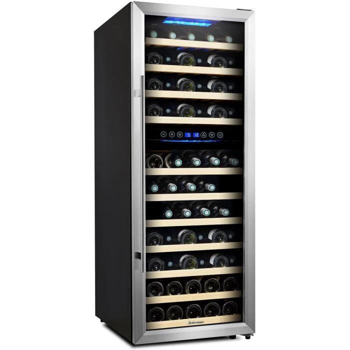 Kalamera KRC-73BSS Cave à vin réfrigérée 2 zones 73 bouteilles ,200 litres,Classe B