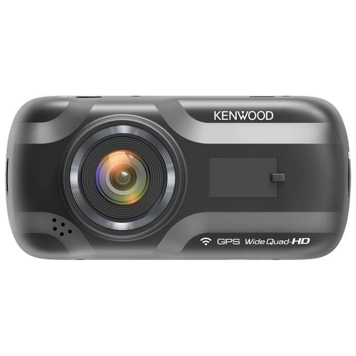 Kenwood DRV-A501W - Caméra embarquée Quad HD (2560 x 1440p à 30fps), Wi-Fi, accéléromètre G-Sensor 3 axes et GPS intégré (