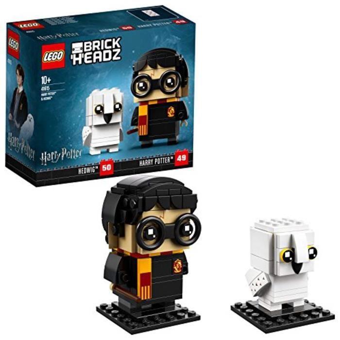 Jeu D'Assemblage LEGO FJWWV 41615 BrickHeadz Harry Potter & Hedwig Jeu de construction, Construction Toy, Assistant Fun cadeau pour