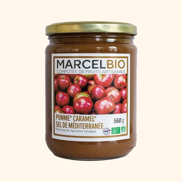 Marcel Bio - Compote pomme caramel sel de Méditérannée Bio 560g