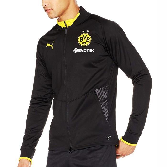 Veste échauffement puma Borussia Dortmund BVB Stadium noir jacket 752855