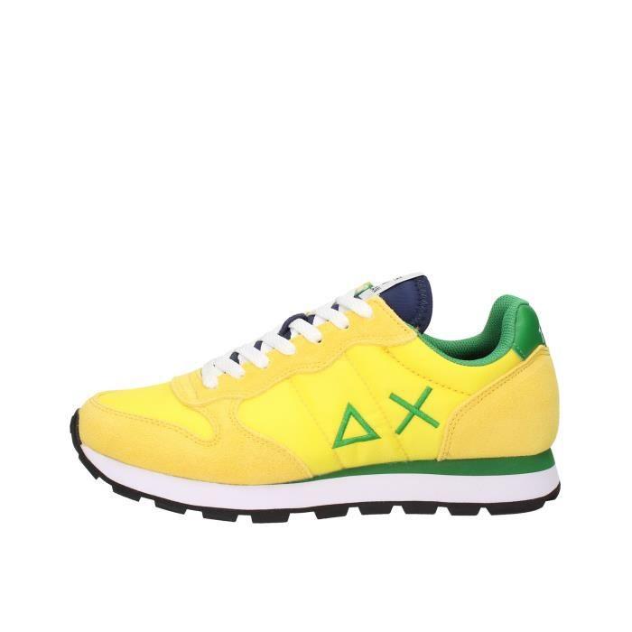 Sun68 Z30101 chaussures de tennis Homme jaune