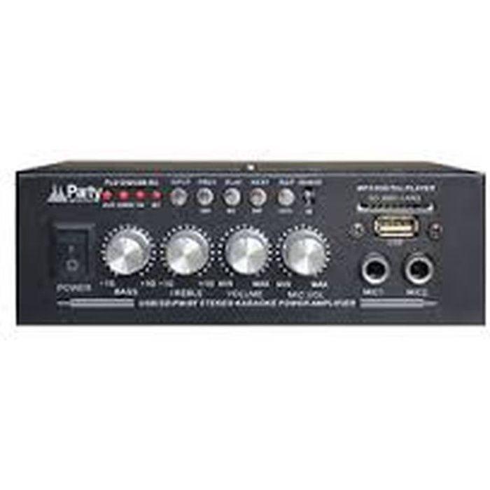 PARTY LIGHT AND SOUND PLS1250USB-RC Amplificateur karaoké - 2x25W