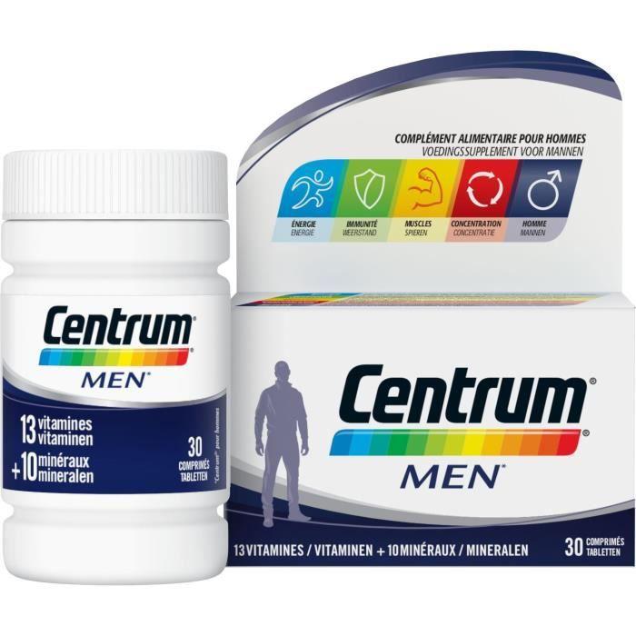 CENTRUM 30 comprimés Men - 13 vitamines 10 minéraux