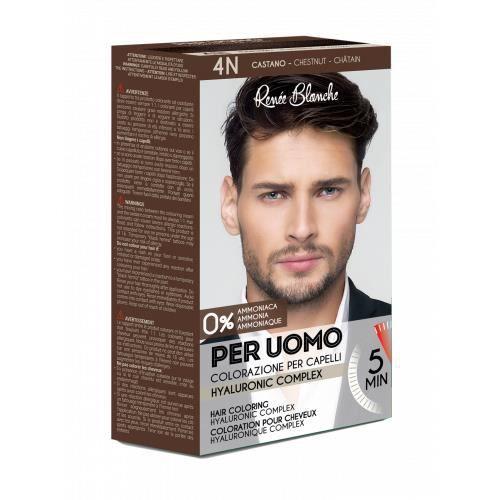 Kit coloration cheveux Châtain pour homme