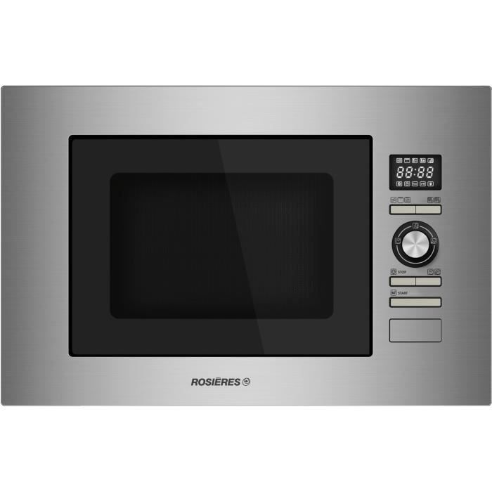 Rosieres - micro-ondes + gril encastrable 28l 900w inox - rmg281in