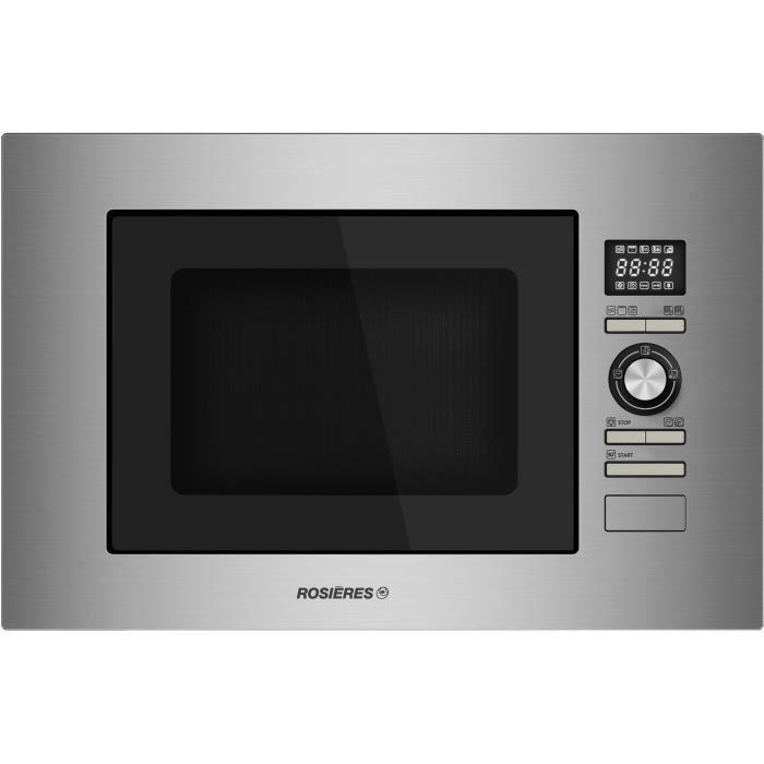 Rosieres - micro-ondes + gril encastrable 28l 900w inox - rmg281in