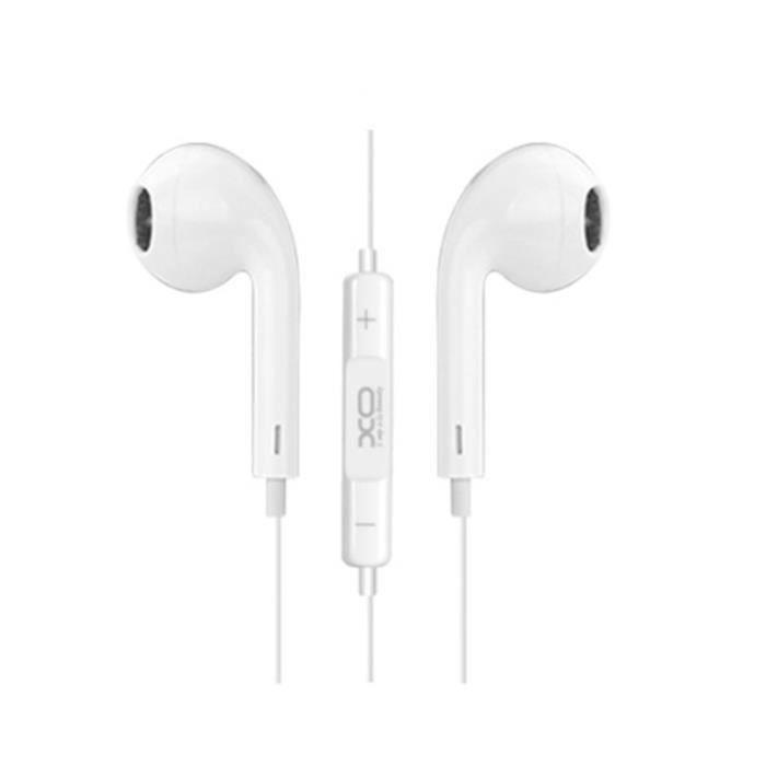 XO Écouteurs filaires S8 jack 3,5mm Blanc