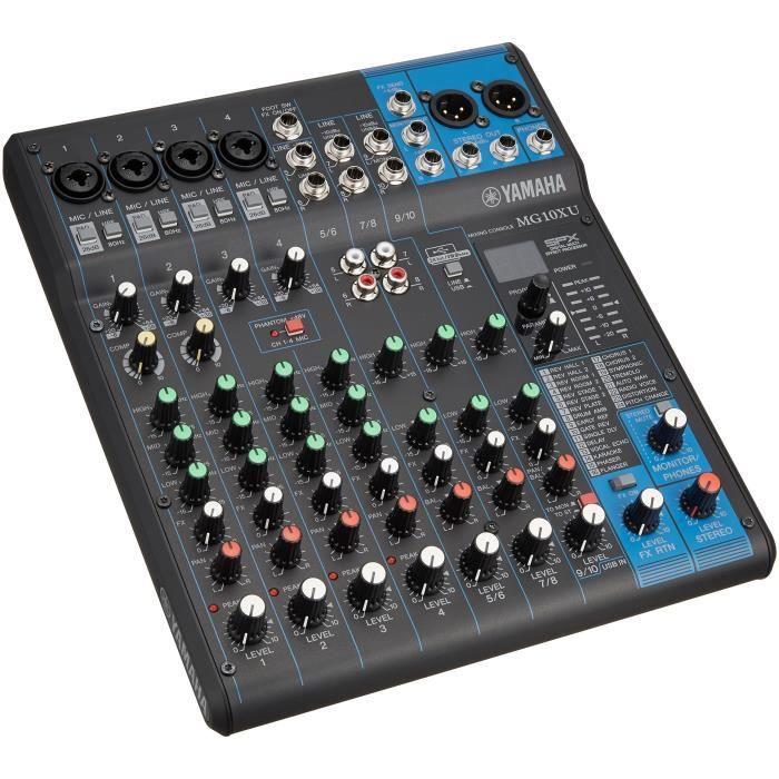 Yamaha MG10 X U Table de mixage audio Professionnel avec effets pour Studio, Live, karaoké, etc