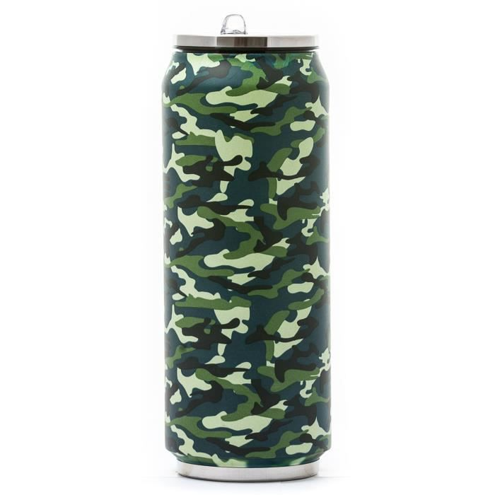 YOKO DESIGN Canette isotherme - Camouflage - 500 ml