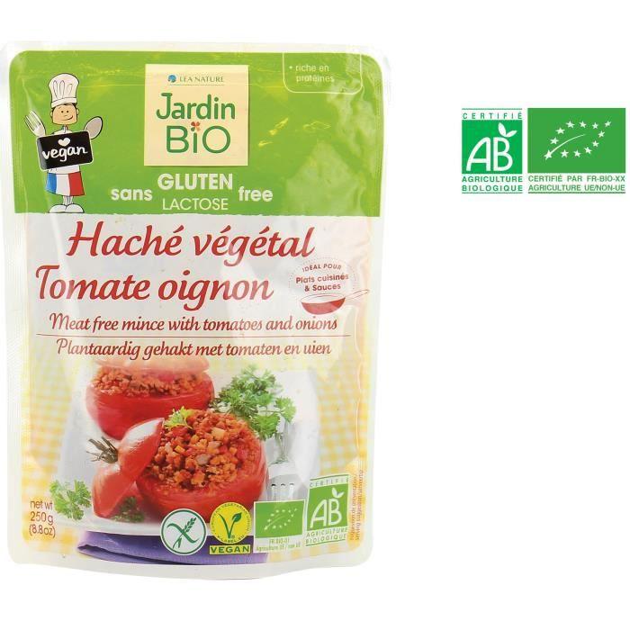 JARDIN BIO Haché végétal tomate et oignon bio - 250 g