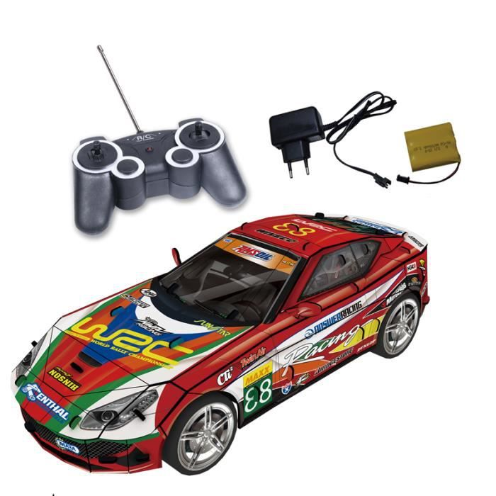 3D Puzzles DIY voiture de course avec télécommande papier ...