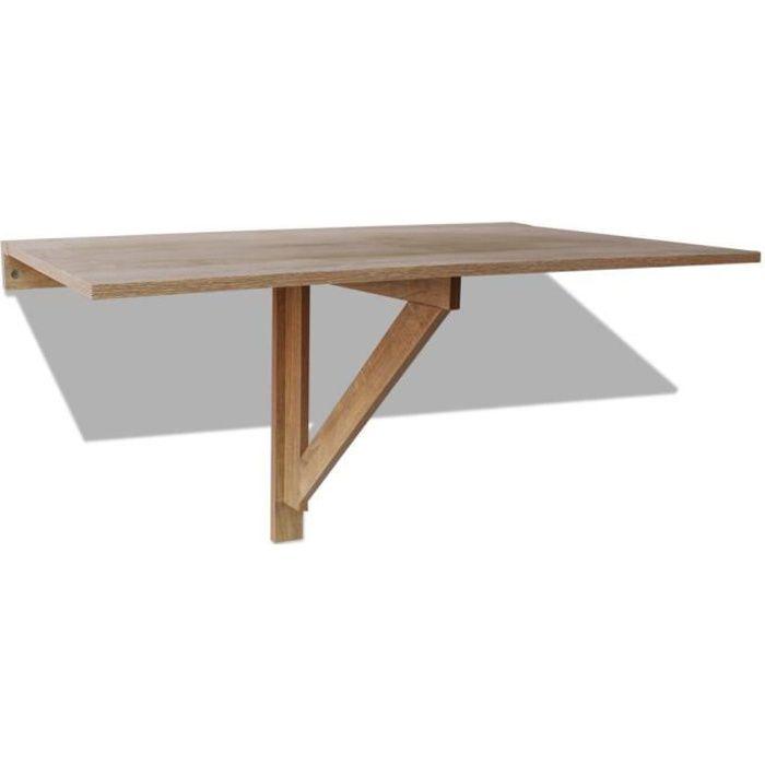 Tables Pliantes Table Murale Rabattable En Chene 100 X 60 Cm