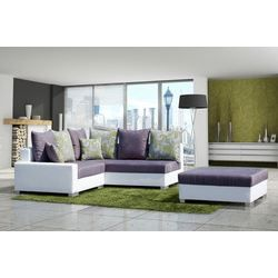canap d 39 angle design elsa coloris aubergine achat vente canap sofa divan cdiscount. Black Bedroom Furniture Sets. Home Design Ideas