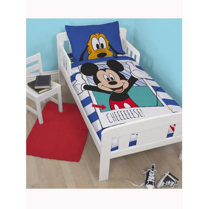 Mickey mouse parure de lit junior achat vente housse for Housse de couette junior