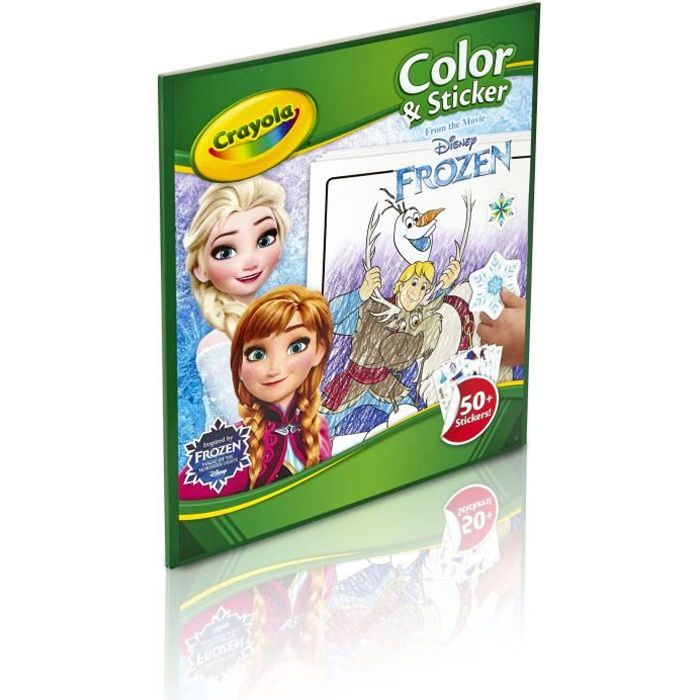 Stickers autocollant enfant Frozen La reine des neiges Elsa réf 5555