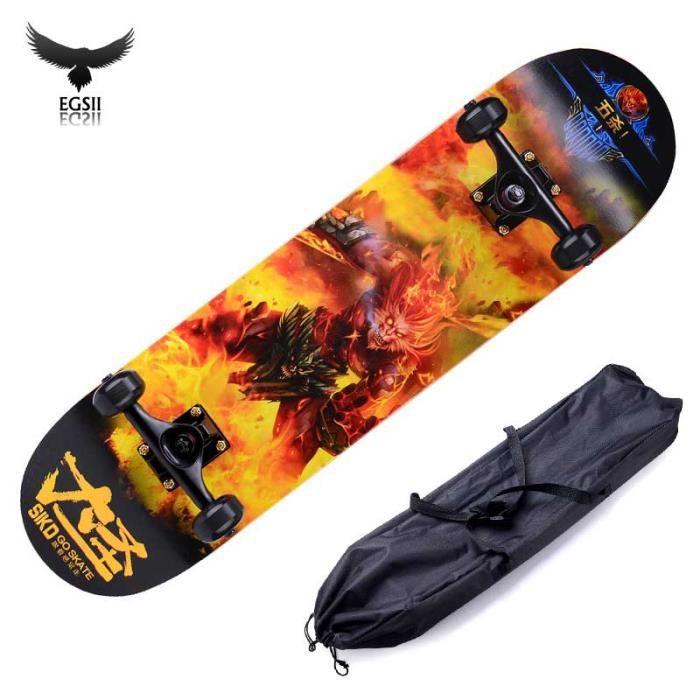 Egsii 80cm Skateboard Adulte Professionnel Longboard Planche A Roulettes Avec Sac De Rangement Dasheng Achat Vente Egsii 80cm Skateboard Adulte Cdiscount
