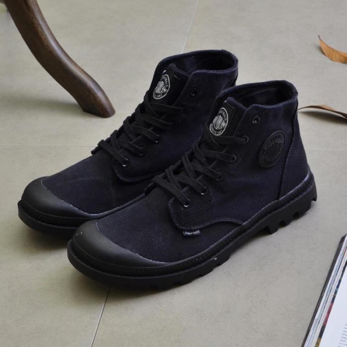 Boots Homme, Marqueune Bottes Martin Chaussures Classiques Hommes Noir