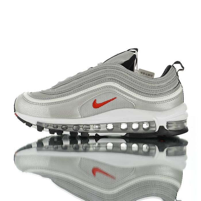 lowest discount cheap price on feet shots of Baskets Nike Air Max 97 Premium Femme et Homme Gris Gris ...
