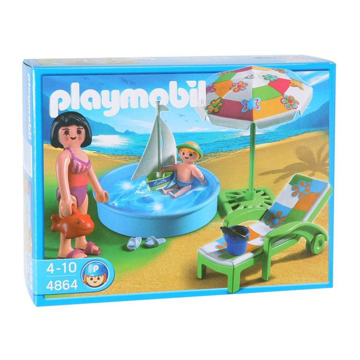 Playmobil pataugeoire achat vente univers miniature for Playmobil piscine