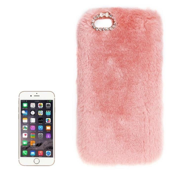 coque iphone 6 fourrure rose