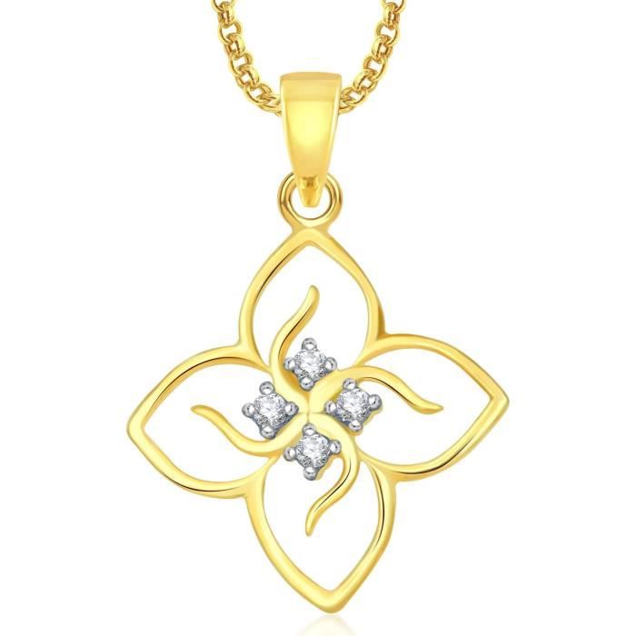 Womens Buddha God Pendant With Chain For ,gold Plated In American Diamond Cz Jewellery Gp0101 AXMB5