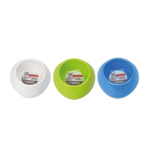MPETS Gamelle en melamine simple ronde - Pour chat - 200ml - Divers coloris