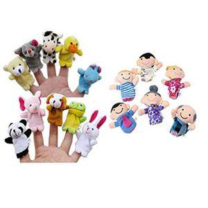 Vktech Lot de 10 marionnettes de doigt Animaux