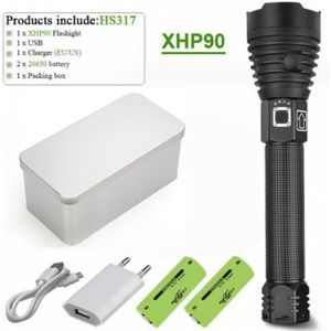 2 x Li-Ion Batterie CREE Lampe de poche LED swat torche high-power flash-light incl