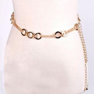 CHAINE DE TAILLE - CHAINE D'EPAULE Femmes Mode chaîne en métal de style ceinture chaî