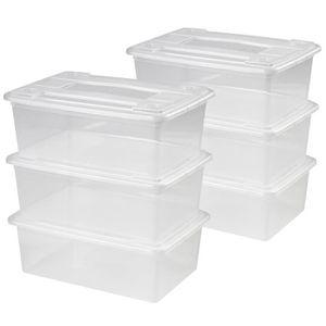 BOITE DE RANGEMENT Boîtes de Rangement Plastique Transparente Lot de