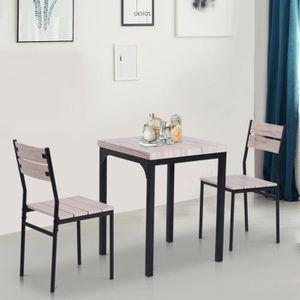 Décors de table Ensemble de Table et Chaises Encastrable 4 Pièces
