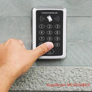 UHPPOTE 125KHz Wiegand 26 Bit Lecteur en Clavier de RFID ID Carte Proximit/é Couleur Noire pour le Syst/ème de Contr/ôle dAcc/ès de la Porte