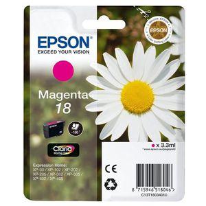 CARTOUCHE IMPRIMANTE Epson Pâquerette 18 T1803 Cartouche d'encre Magent