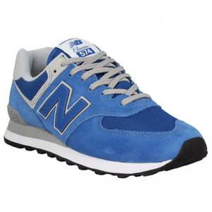 BASKET Baskets NEW BALANCE 574 velours toile Homme-43-Blu