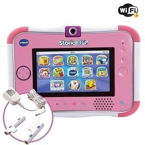 TABLETTE ENFANT STORIO 3S Rose - Tablette Enfant Wifi Vtech + Powe