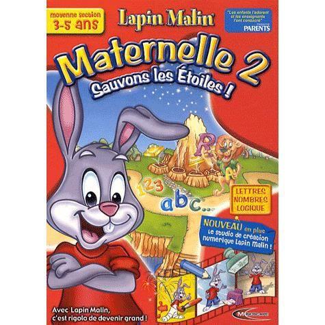 JEU PC Lapin Malin Maternelle 2 Sauvons les Etoiles!