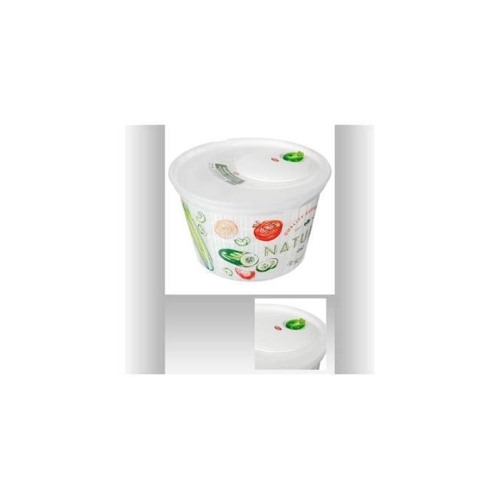 Essoreuse à salade mécanique 4L - Blanc 15,5 cm