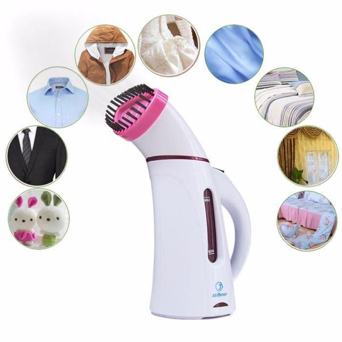vêtement Vertical vêtements vapeur avec brosse à vapeur appareils à lessive repassage fers à vapeur à main fer rose
