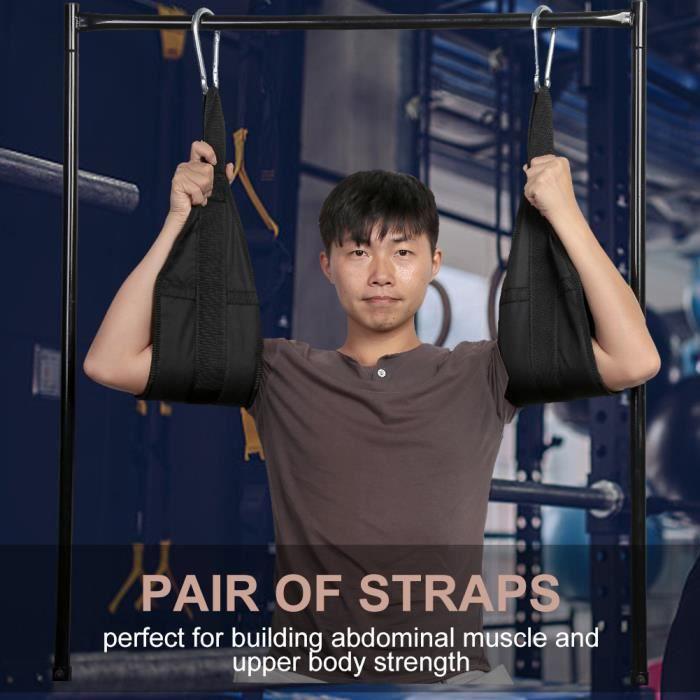 Sangle Suspendue Sangles de Suspension de Gymnastique pour Musculation Fitness à la Maison -WER