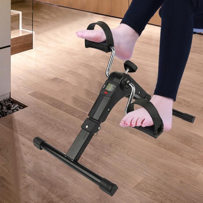 mini vélo d'appartement entraîneur & Stepper cyclisme fitness equippemnt pédale & exercice stepper avec écran lcd