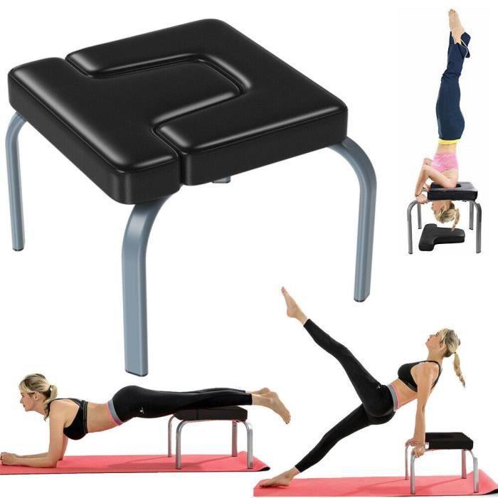 Chaise De Yoga Table D'inversion Banc Exercice Fitness Bodylift Headstand Noir 50 x 50 x 36.7cm