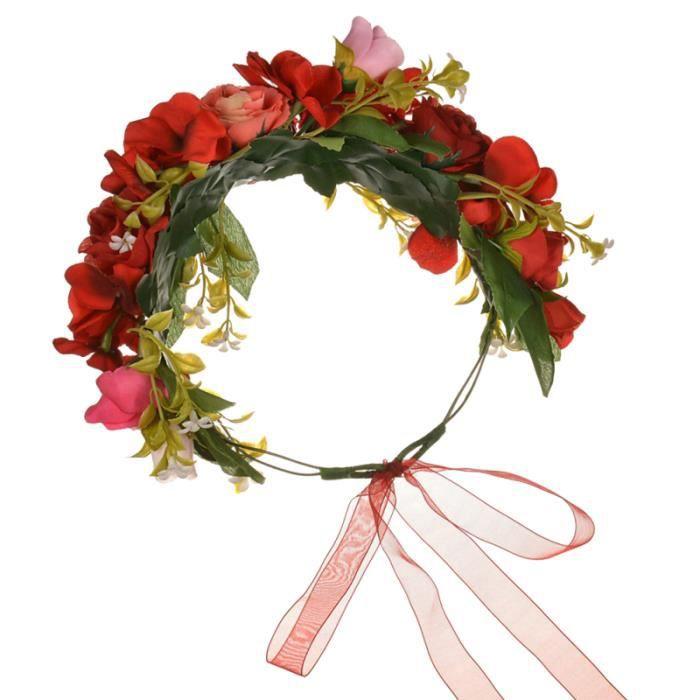 1 pc fleur bandeau accessoire de cheveux Rose casque couronne de guirlande accessoires de COFFRET PRODUITS HYGIENE BEBE