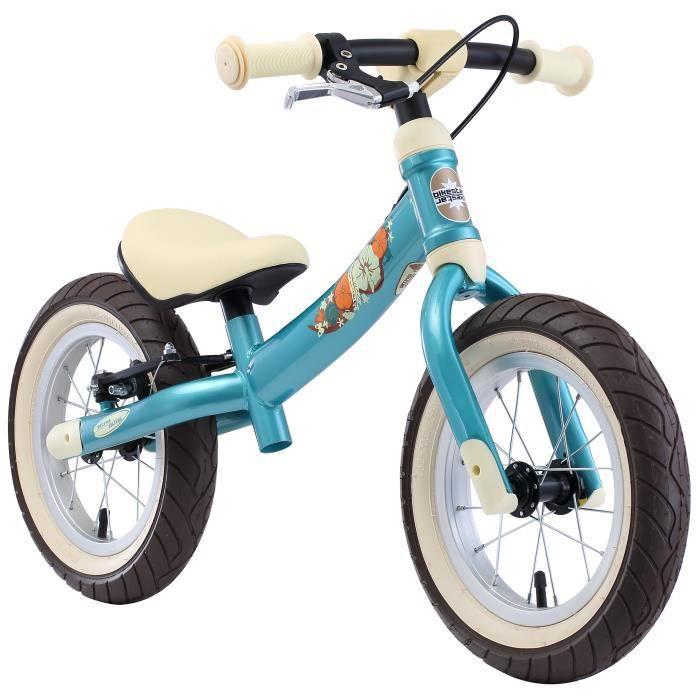 BIKESTAR - Draisienne - 12 pouces - pour enfants de 3-4 ans - Edition Sport 2-en-1 - garçons et filles - Turquoise