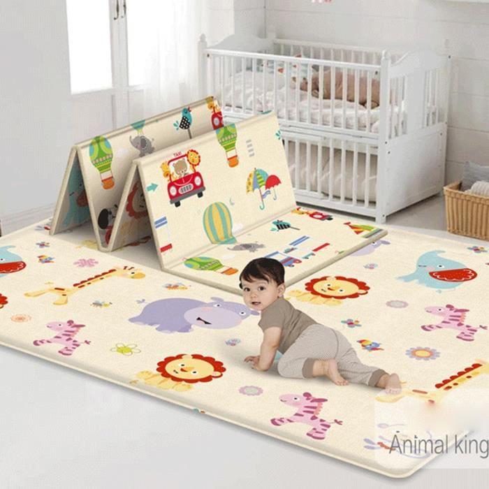 Tapis d'éveil,180*100CM tapis pour enfants pliable jouets dessin animé bébé tapis de jeu Double face bébé tapis - Type PJ3744A